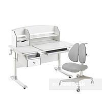 Комплект стол-трансформер  Sognare Grey + подростковое кресло Bello II Grey FunDesk, фото 1