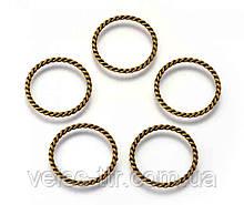 Конектор кільце Вите бронза 25х21 мм
