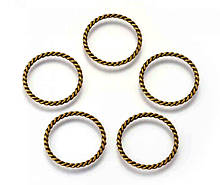Коннектор кольцо Витое бронза 25х21 мм
