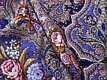 Миндаль 1369-13, павлопосадский платок (шаль) из уплотненной шерсти с шелковой вязанной бахромой, фото 5