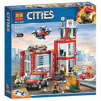 """Конструктор Bela 11215 """"Пожарное депо"""" (аналог Lego City 60215), 533 детали"""