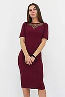 S, M, L, XL / Жіноче вечірнє плаття з сіточкою Tiana, марсала
