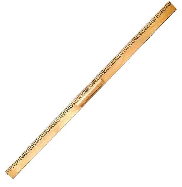 Лінійка дерев'яна 1 метр з ручкою Атлас, К-4063, 132115
