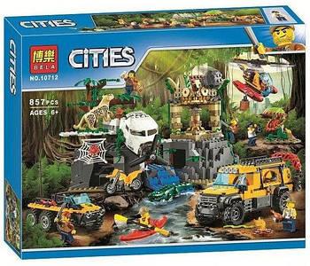 Конструктор Bela 10712 База исследователей джунглей (аналог Lego City 60161), 857 деталей