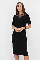 S, M, L, XL / Жіноче вечірнє плаття з сіточкою Tiana, чорний XL (48-50)