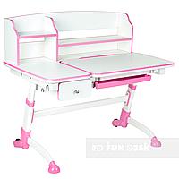 Детская регулируемая парта FunDesk Amare II Pink с выдвижным ящиком, фото 1