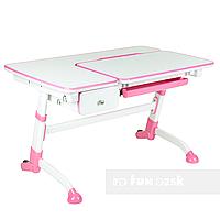 Детский стол-трансформер FunDesk Amare Pink с выдвижным  ящиком, фото 1