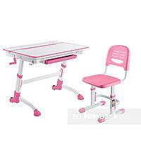 Растущая парта-трансформер FunDesk Volare Pink+ Детский стул SST3 Pink, фото 1