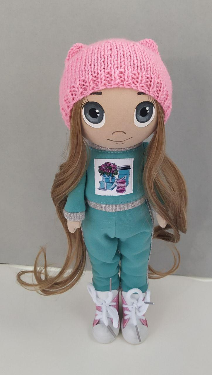 Текстильная кукла тильда ручной работы, хлопок