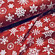Ткань поплин белые снежинки на красном (ТУРЦИЯ шир. 2,4 м) №32-111 ОТРЕЗ(0,7*2,4), фото 4