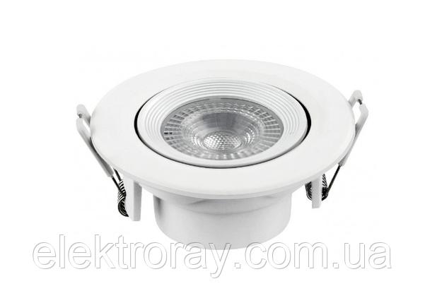Светодиодный светильник Luxel 9W 4000k встраиваемый круглый белый, фото 2