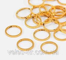 Конектор кільце плоске золото 10х8 мм