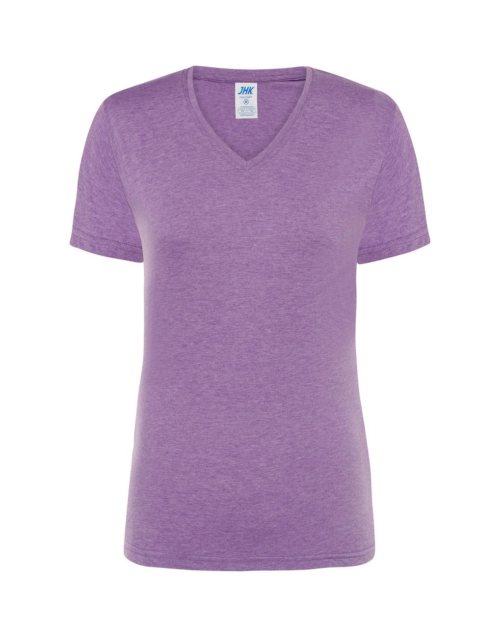 Женская футболка JHK COMFORT V-NECK LADY цвет лавандовый (LVH)