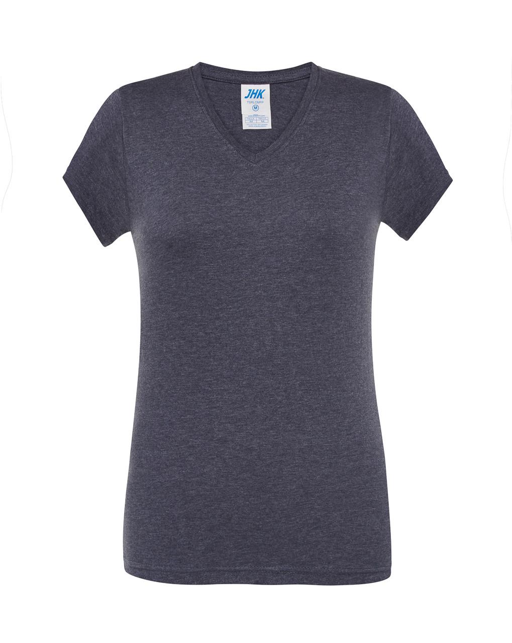 Женская футболка JHK COMFORT V-NECK LADY цвет темно-синий (DNH)