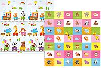 Развивающий коврик Babypol для детей 1800x2000 Всезнайка/Животные, фото 1