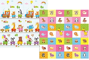 Развивающий коврик Babypol для детей 1800x2000 Всезнайка/Животные