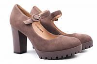 Туфли на каблуке Lady Marcia натуральная замша, цвет визон