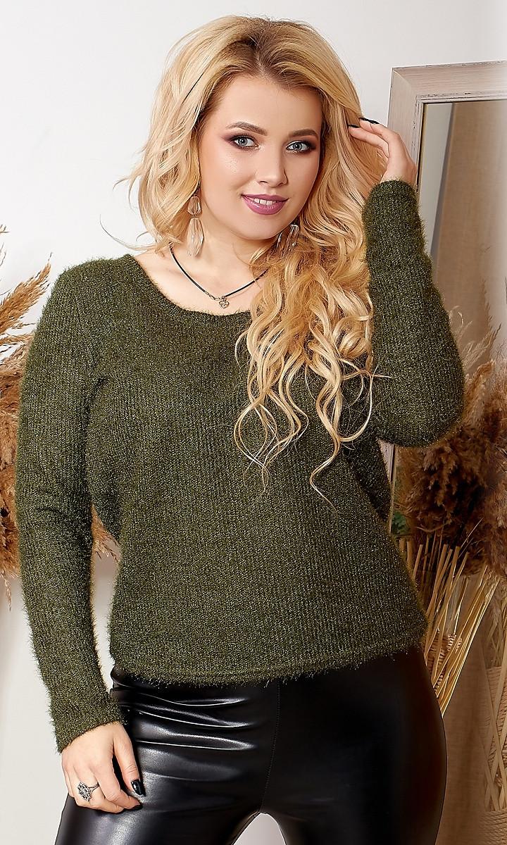 Приятный свитер вязки монро