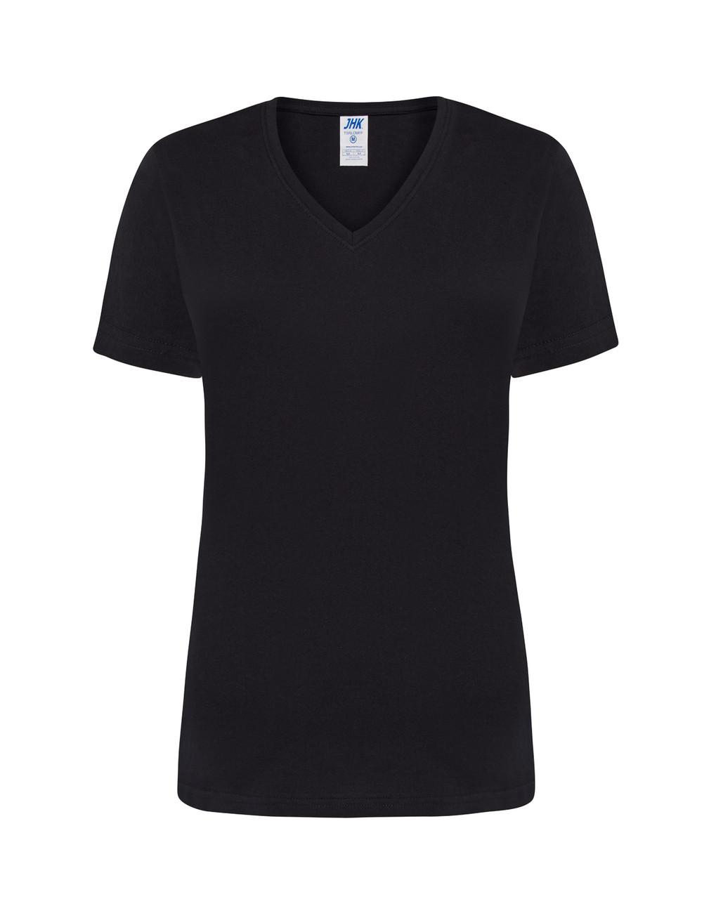 Женская футболка JHK COMFORT V-NECK LADY цвет черный (BK)