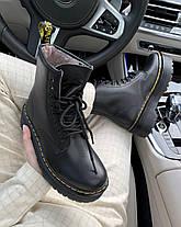 Зимние женские ботинки Dr. Martens Jadon II FUR Black Доктор Мартинс Жадон черные С МЕХОМ, фото 2