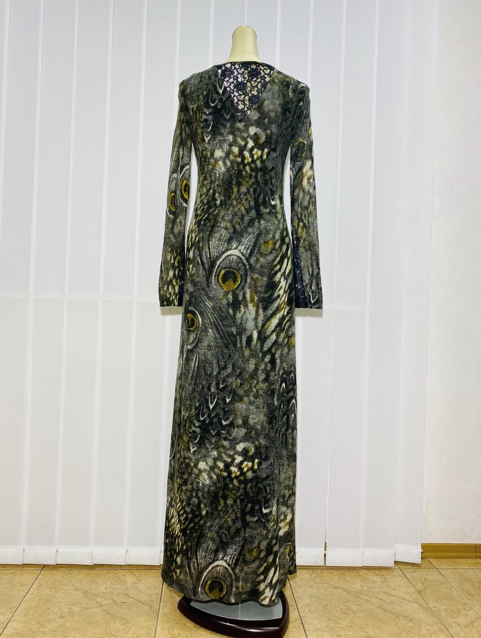 Платье длинное в пол цветное с длиннім рукавом