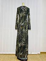 Платье длинное в пол цветное с длиннім рукавом, фото 1