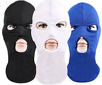 Балаклава теплая с прорезями для глаз и рта, подшлемник ( белая , черная , синяя ), фото 1