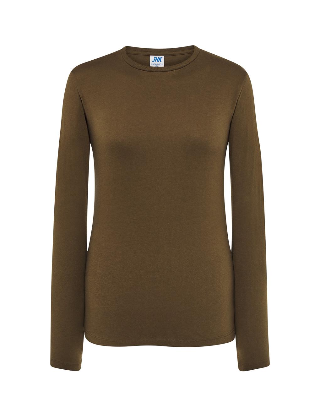 Женская футболка JHK REGULAR LADY LS цвет хаки (KH)