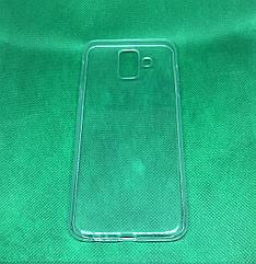 Samsung Galaxy A6 2018 (A600F) прозрачный ультратонкий силиконовый чехол/ бампер/ накладка