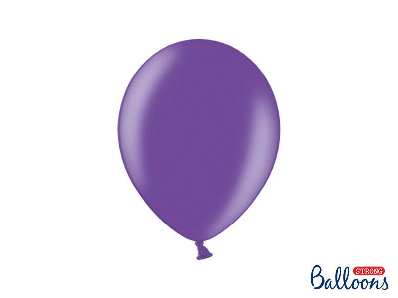 Balloons Strong 27cm, Metallic Purple ( Металлик Пурпурный), 50шт