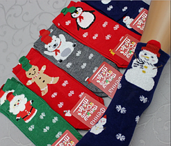 Яркие детские носки Новогодние! 3-8 лет.