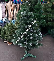 Елка с заснеженными кончиками 100 см ➜ Искусственная елка с белыми кончиками 1 м ➜ Ель ПВХ