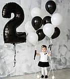Фольгована цифра 9 Чорна 1 метр 1653, фото 4