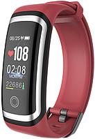 Фитнес-браслет Lerbyee M4 ( Wearpai M4 ) | IP67 | Тонометр | Красный с серебристой рамкой | Гарантия, фото 1
