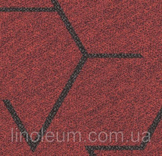 Ковролин в планках Flotex triad 131001 red