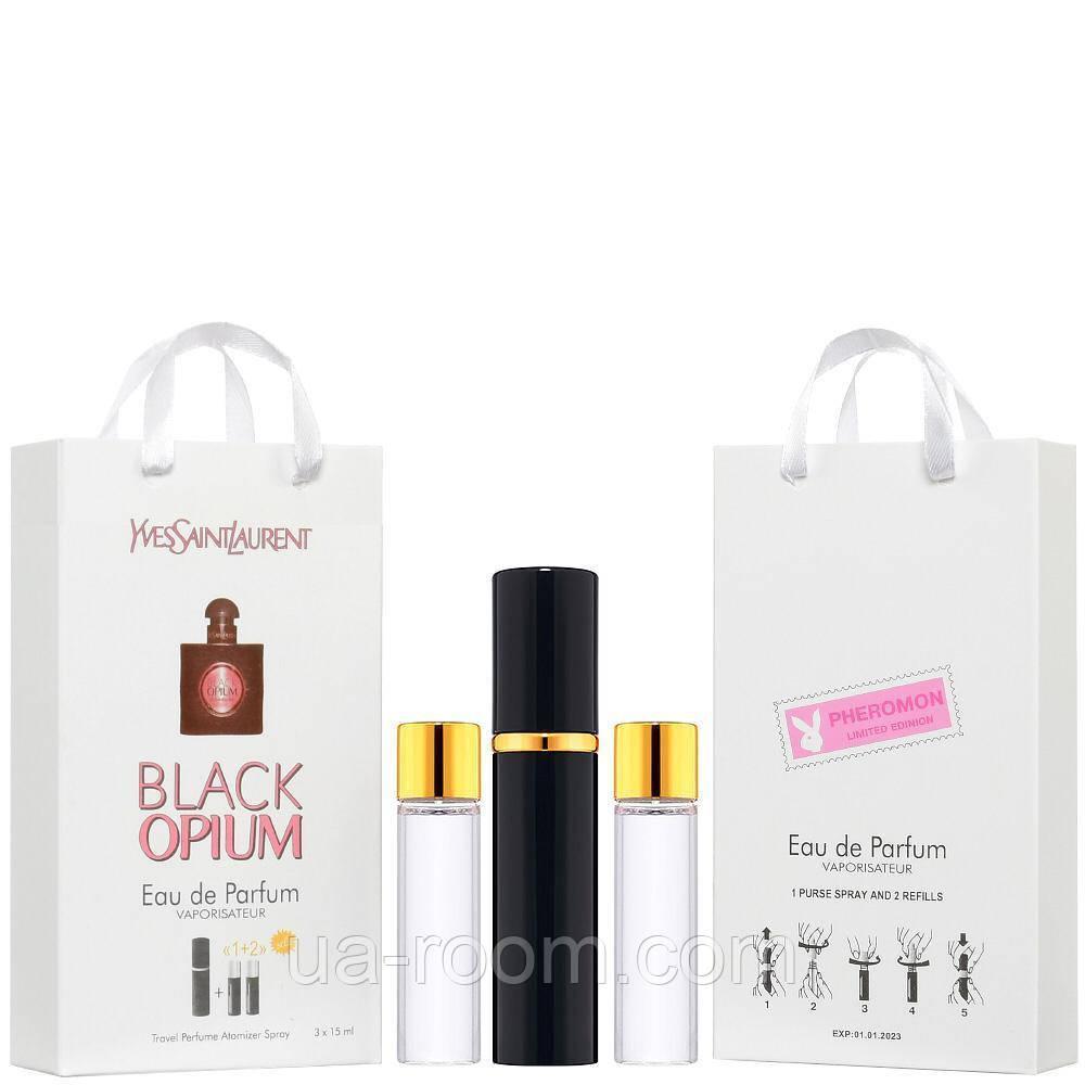 Мини-парфюм женский Yves Saint Laurent Black Opium, 3х15 мл