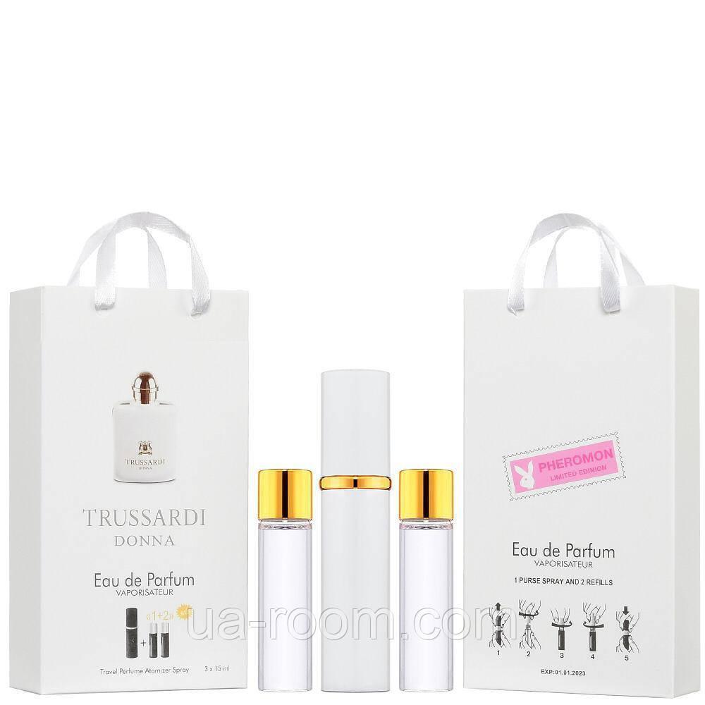 Мини-парфюм женский Trussardi Donna, 3х15 мл