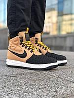 Мужские кроссовки Nike Lunar Force 1 Duckboot '17 Найк Лунар Форс Дакбут коричневые