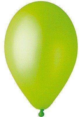 """Воздушные шары Gemar 12"""" (30 см), Металлик Светло-Зелёный 67, 100 шт (GM110)"""