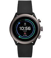 FOSSIL SPORT SMARTWATCH - 43MM BLACK SILICONE Лучшие спортивные умные часы на WEAR OS от Google Model FTW4019