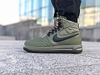 Мужские кроссовки Nike Lunar Force 1 Duckboot '17 Green / Найк Лунар Форс Дакбут, высокие зеленые, фото 1