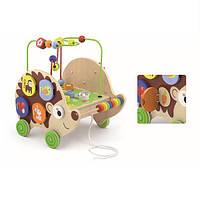 Игрушка-каталка Ежик 4 в 1 Viga Toys 29,5х26,5х33 см Разноцветный
