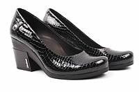 Туфли комфорт Guero лаковая натуральная кожа, цвет черный