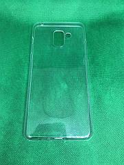 Samsung Galaxy A8+ 2018 (A730F) прозрачный силиконовый ультратонкий чехол/ бампер/ накладка