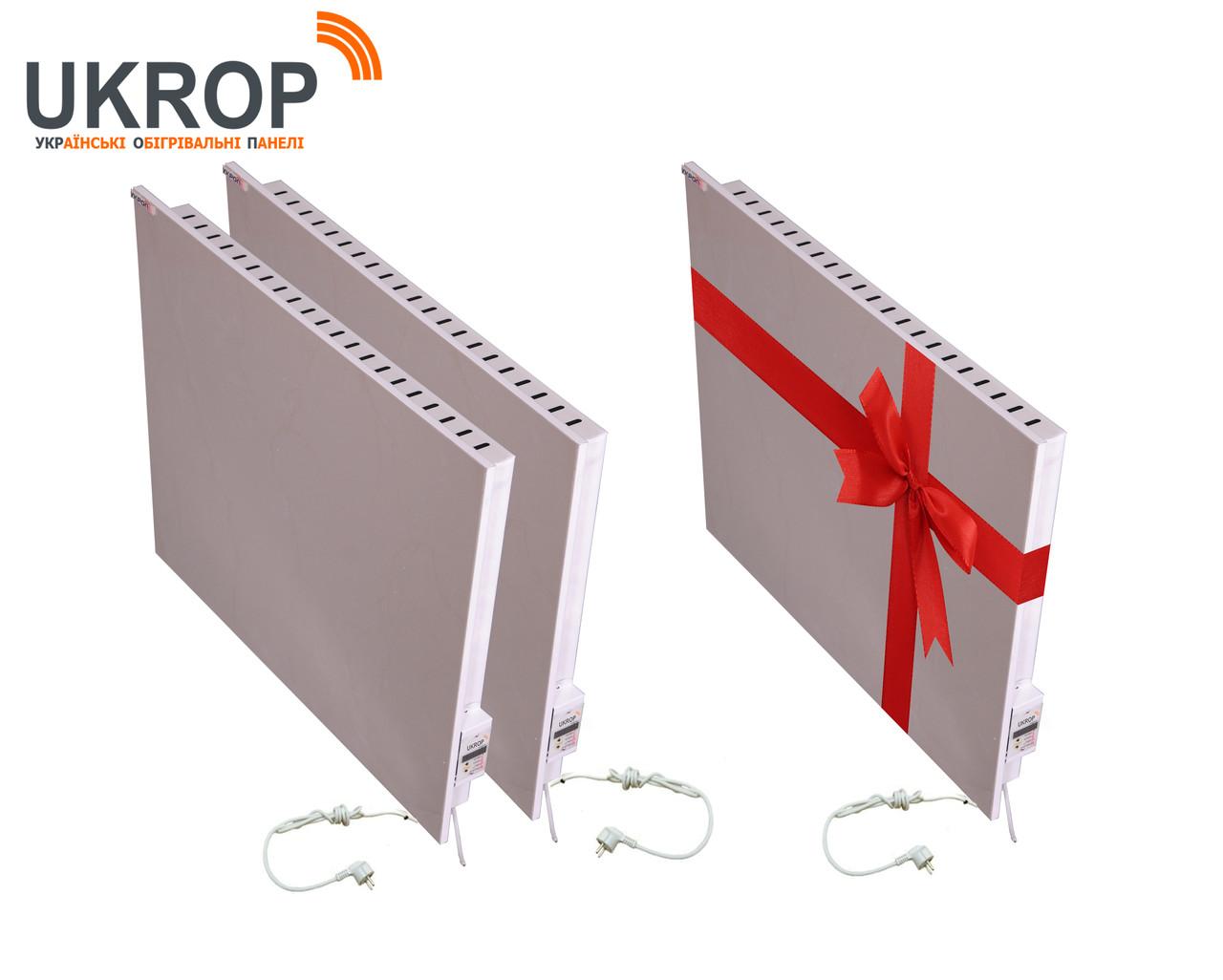 Промо-набір 3шт: керамічний біо-конвектор UKROP БІО-К 750ВТ з цифровим терморегулятором 2в1, не сушить повітря