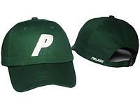 Кепка хайповая хлопковая с логотипом зелёная мужская женская бейсболка