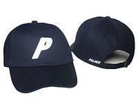 Кепка топовая хлопковая с логотипом синяя мужская женская бейсболка