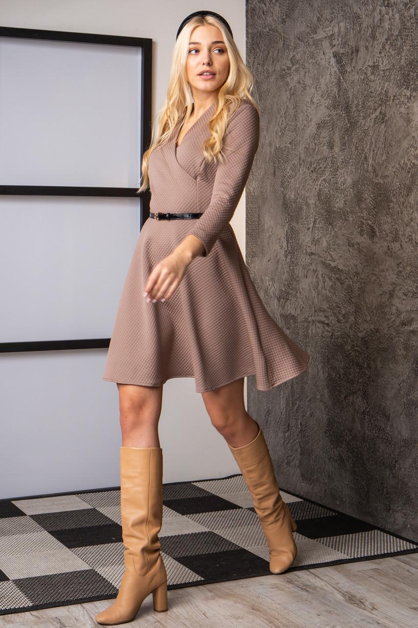 Платье  мод 742-1 размер 44,46,48 бежевое, фото 1