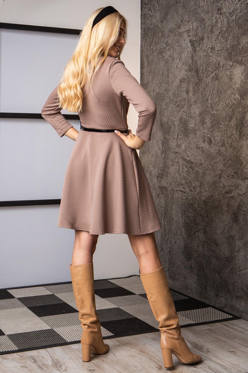 Платье  мод 742-1 размер 44,46,48 бежевое, фото 4