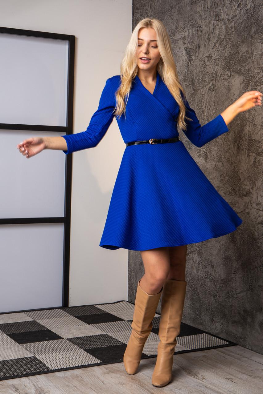 Платье  мод 742-2 размер 44,46,48 электрик, фото 1